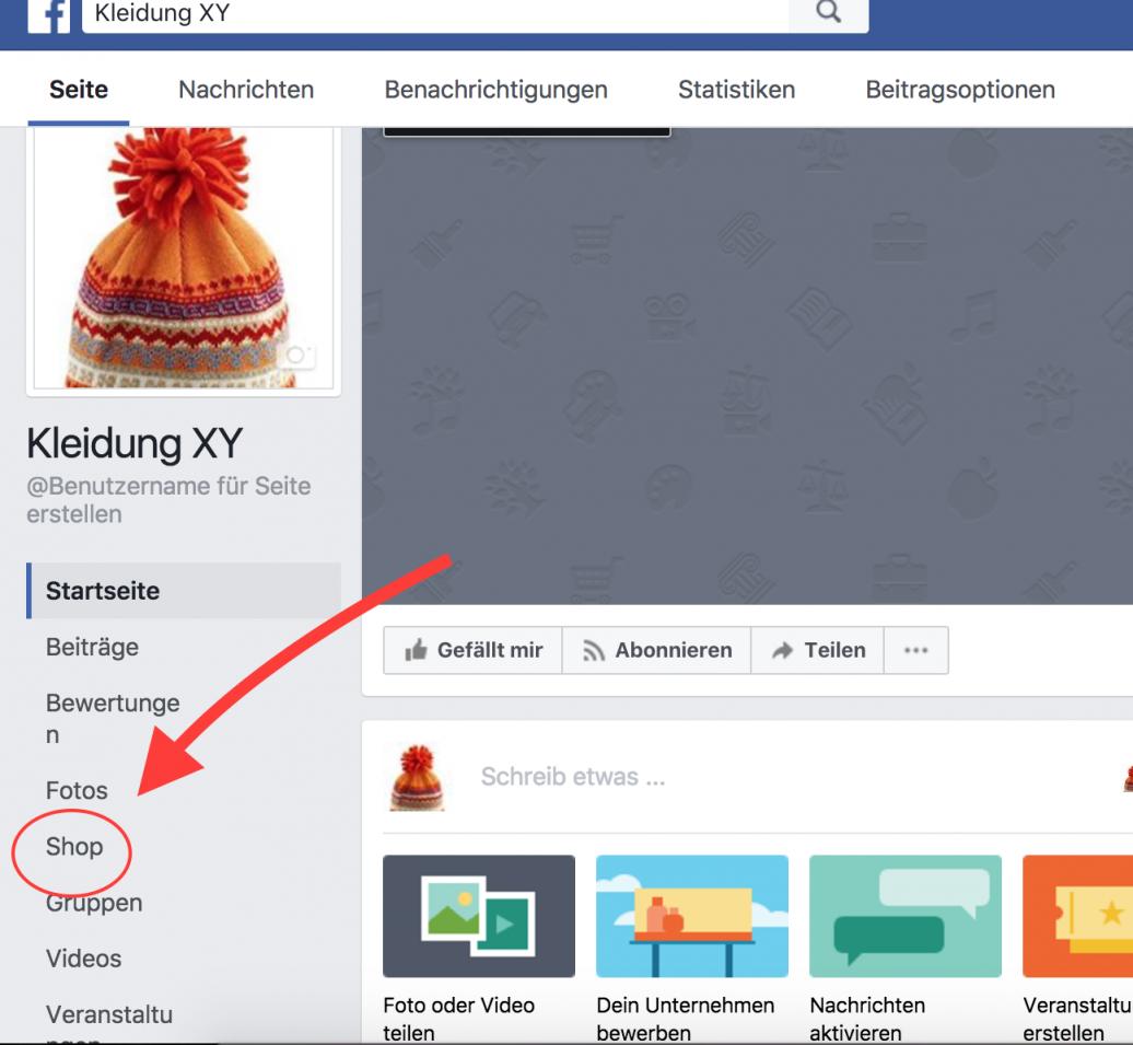 Online Shop Auf Facebook
